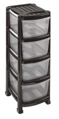 Heidrun Regał z 4 szufladami czarny
