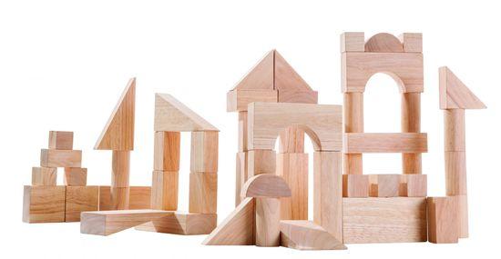 Plan Toys Přírodní stavebnice (50 ks) - rozbaleno