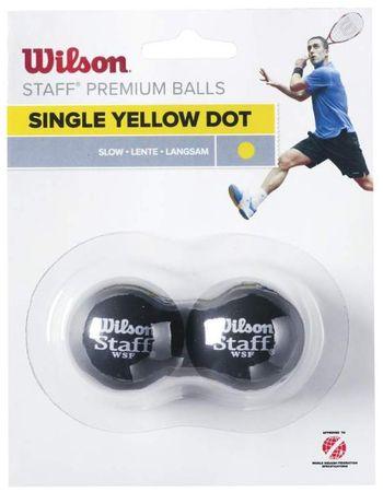 WILSON Staff Squash labda, 2 db, 1 sárga pont