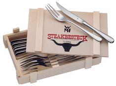 WMF Příbor na steak Set v dřevěném boxu