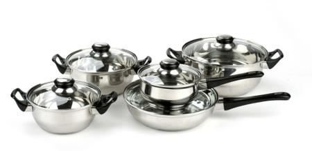Apetit 10 darabos rozsdamentes acél edénykészlet