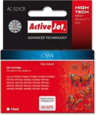 ActiveJet cyan tinta Canon (CLI-521C)