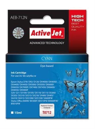 ActiveJet cyan kartuša Epson (T0712)