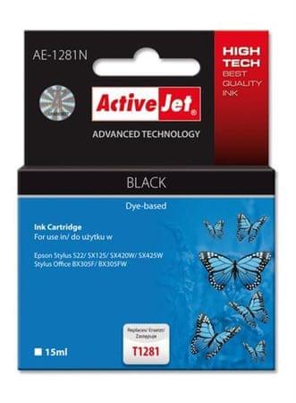 ActiveJet kartuša za Epson T1281 črna