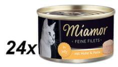 Finnern hrana za mačke Miamor, piletina i tjestenina, 24 x 100 g