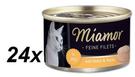 Finnern hrana za mačke Miamor, piščanec in testenine, 24 x 100 g