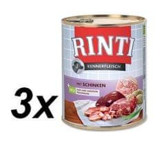 RINTI mokra karma dla psa Pur Kennerfleisch Szynka 3x800g