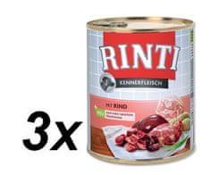 RINTI mokra karma dla psa Pur Kennerfleisch Wołowina 3x800g