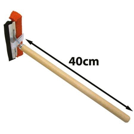 CarPoint brisalec vetrobranskih stekel, lesen ročaj 40 cm
