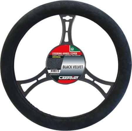 CarPoint prevleka volana suedine, črna