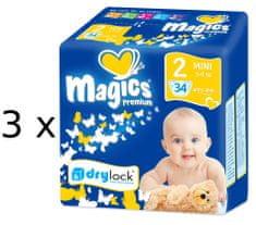 Magics Premium 2 Mini Jumbo pack (3-6 kg) 102 ks (3x34 ks)
