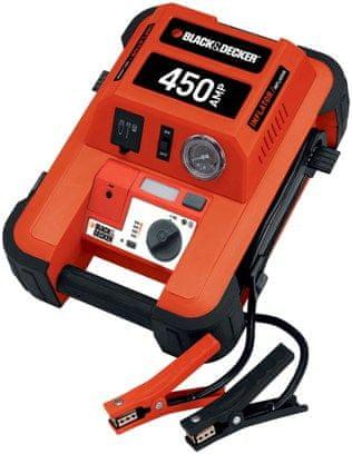 Black+Decker 450A Indítássegítő kompresszorral