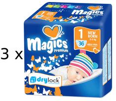 Magics Premium 1 Newborn pelenka (2-5 kg) 108 db
