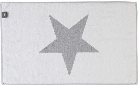 Cawö Frottier Frottier Big Stars Fürdőszoba szőnyeg, Ezüst