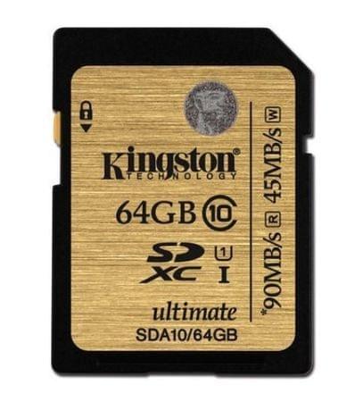 Kingston spominska kartica SDXC UHS-I 64GB C10 (SDA10/64GB) - Odprta embalaža