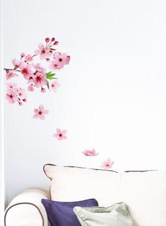 Crearreda stenska dekorativna nalepka, cvetoče češnje M