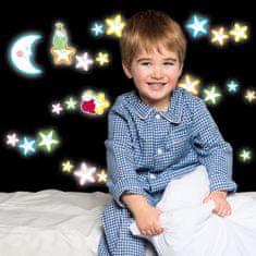 Crearreda stenska dekorativna nalepka glow, smejoče zvezdice m
