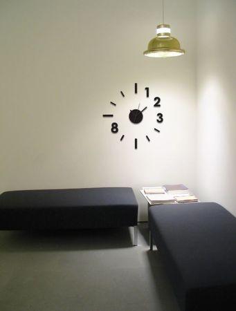 Crearreda zidna dekorativna naljepnica, 3D sat moderni, M