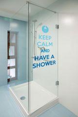 Crearreda stenska dekorativna nalepka bathroom, Have a shower L