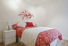 Crearreda zidna dekorativna naljepnica, crveni ramage L