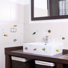 Crearreda dekorativna naljepnica, ribice u boji, S