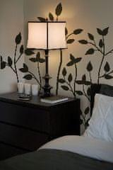 Crearreda zidna dekorativna naljepnica, crne grane s listovima, XL