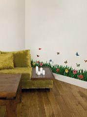 Crearreda stenska dekorativna nalepka, flat trata XL
