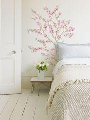 Crearreda stenska dekorativna nalepka, flat cvetoče breskve XL