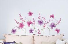 Crearreda stenska dekorativna nalepka, flat vijolično cvetje XL