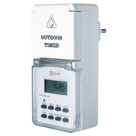 Emos zunanja digitalna stikalna ura (P5525)