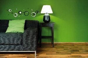 Crearreda stenska dekorativna nalepka, 3D črno-beli krogi S