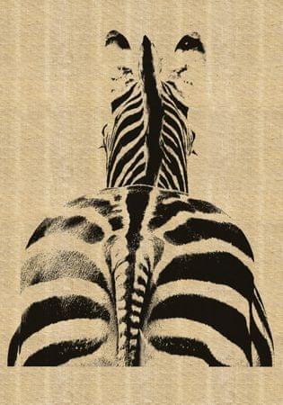 Crearreda stenska dekorativna nalepka deluxe juta, zebra XXL