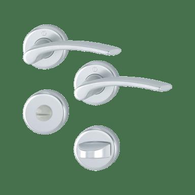 Hoppe garnitura Ibiza, rozeta 1171/17KV/17KVS F1 WC, aluminijska