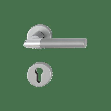 Hoppe aluminijasta kljuka za notranja vrata Lecce F49/F9-2 za cilinder