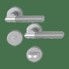 Hoppe garnitura Lecce, rozeta 1405/42KV/42KVS F49/F9-2 WC, aluminijasta