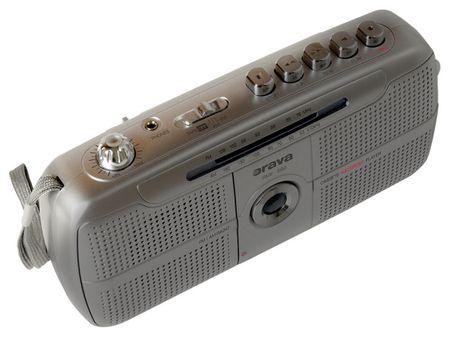 Orava RMF-690 Hordozható rádiós magnó, Ezüst