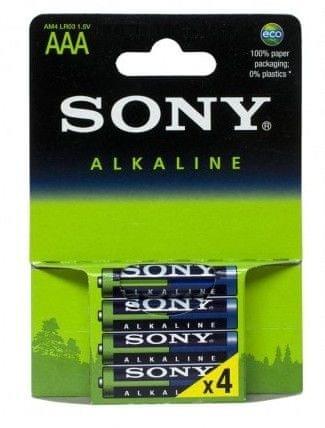 Sony alkalna baterija AM4-LB4D LR03, tip AAA, 4 kom