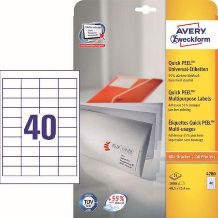 Avery Zweckform etikete 4780, 48.5x25.4 mm