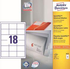 Avery Zweckform etikete 3671, 64x45 mm