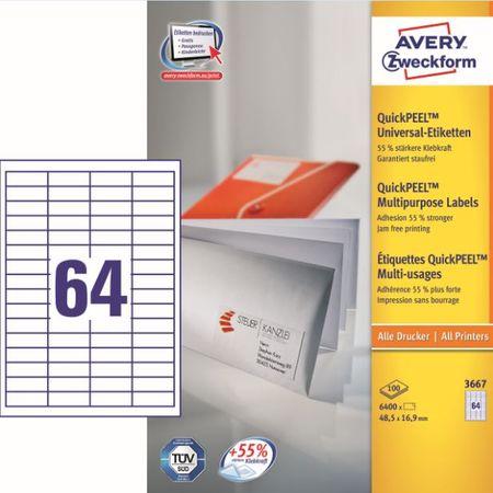 Avery Zweckform etikete 3667, 48.5x16.9 mm