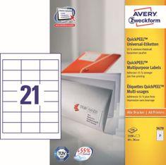 Avery Zweckform etikete 3670, 64x36 mm, bele