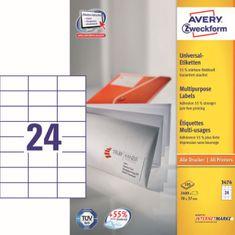 Avery Zweckform etikete 3474, 70x37 mm