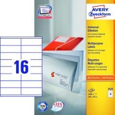 Avery Zweckform etikete 3423, 105x35 mm