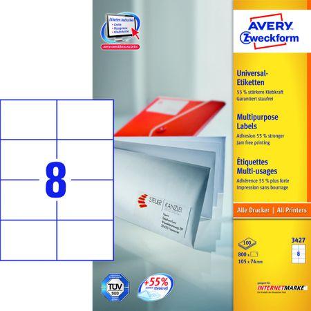 Avery Zweckform etikete 3427, 105x74 mm