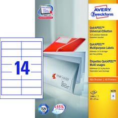 Avery Zweckform naljepnice 3678, 97 x 37 mm, bijela