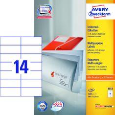 Avery Zweckform etikete 3653, 105x42.3 mm