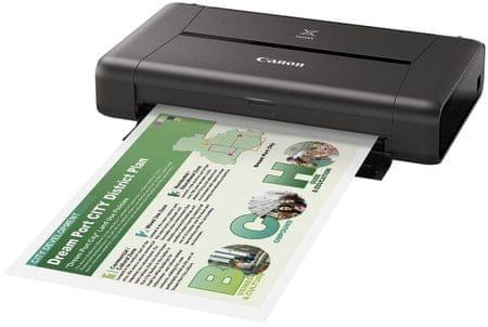 Canon przenośna drukarka atramentowa PIXMA iP110 + baterie (9596B029)
