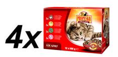 Propesko kapsička mačka kura + hovädzie + zverina + jahňa 4 x (12 x 100g)