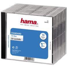 HAMA CD BOX náhradný obal, 10ks / bal, transparentná / čierna