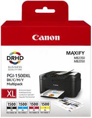 Canon tusz oryginalny PGI-1500XL C/M/Y/BK Multipack - Kolorowy (9182B004)